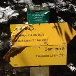Sentiero 5 - La Scarpa del Diavolo - Segnavia