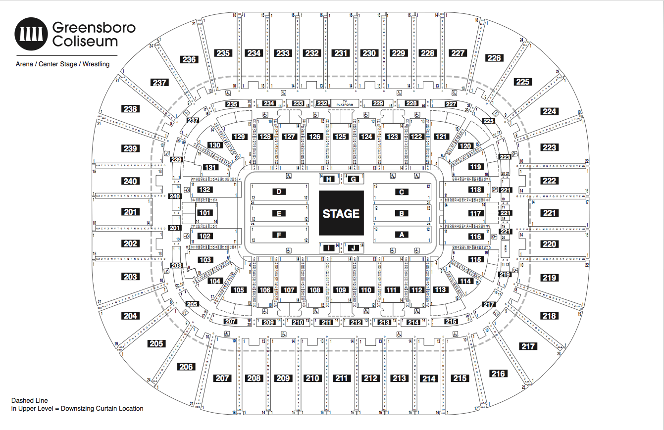 Greensboro Coliseum Seating Chart Row Aaa