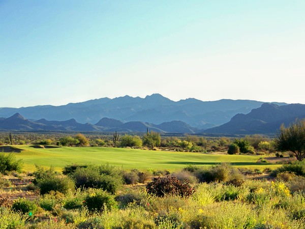 Verde River Golf & Social Club Rio Verde, Arizona. Hole 1 view from Tee