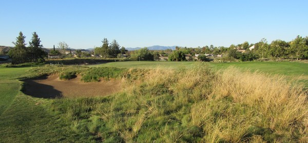 Rustic Canyon Golf Course Moorpark California Hole 4 Par 3 Green complex