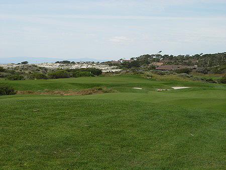 Spanish Bay Golf Links Pebble Beach California. Hole 18 Approach
