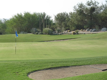 Desert Dunes Golf Club Desert Hot Springs California Hole 16 Green-side
