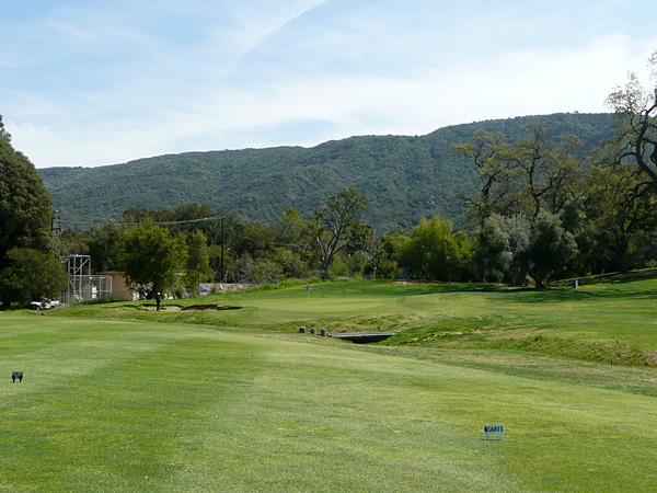 Soule Park Golf Club Ojai California Hole 2 Approach