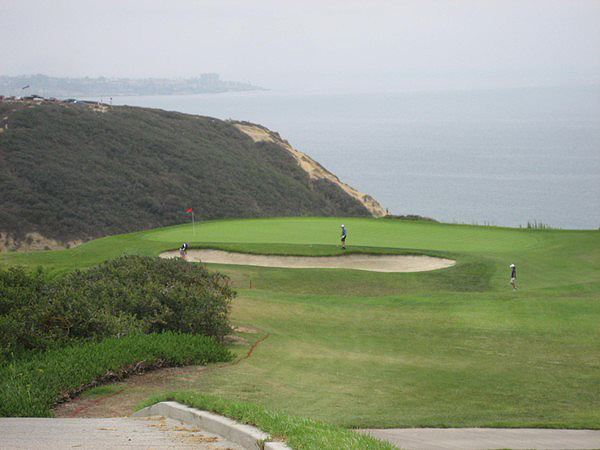 Torrey Pines Golf Course (SOUTH) San Diego California. Hole 3 Par 3