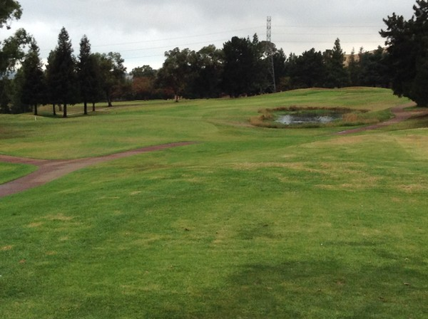 Boundary Oak Golf Course Walnut Creek California. Hole 8 Par 4