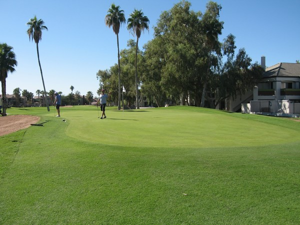 San Marcos Golf Resort Chandler Arizona, Hole 2 Par 4