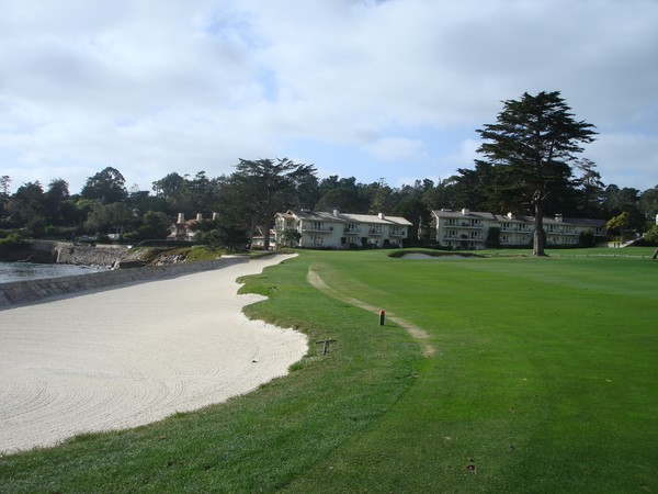 Pebble Beach Golf Links Pebble Beach, California. Hole 18 Approach