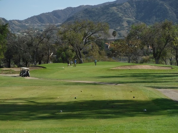 Green River Golf Club Corona, California. Hole 8 view from Tee Box