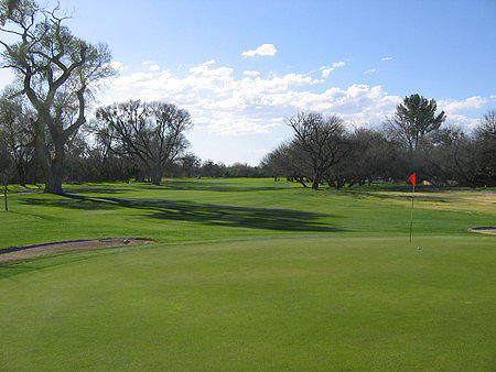 Forty-Niner Country Club Tucson Arizona. Hole 15 Green-side