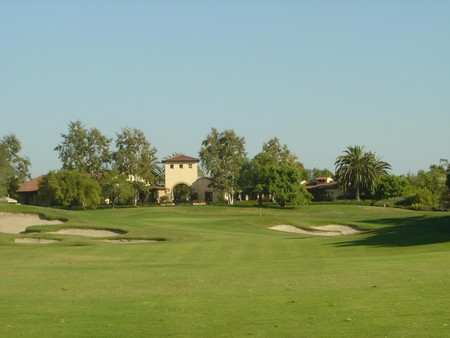 Oak Creek Golf Club Irvine, California.  Hole 18 Approach