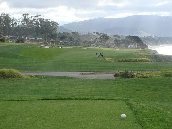 Pebble Beach Golf Links Pebble Beach California. Hole 10 View from Tee Box