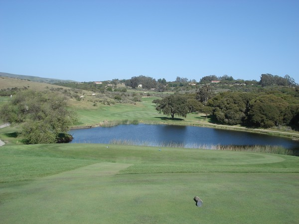 La Purisima Golf Course Lompoc California. Hole 12 view from Tee Box
