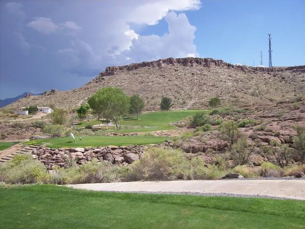 Cerbat Golf Course Kingman Arizona. Hole 17 Par 3 Uphill