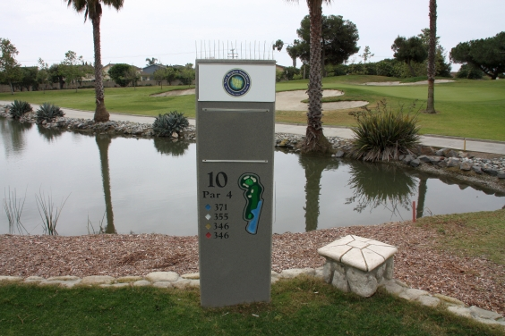 Navy Golf Course Cypress, California. Hole 10 Tee Marker