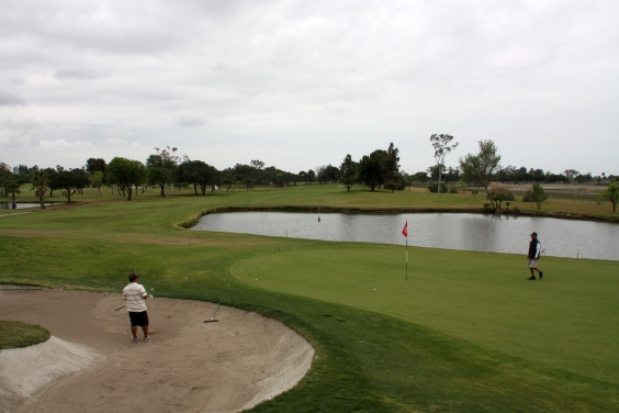 Navy Golf Course Cypress California. Hole 12 Destroyer Course Green-side