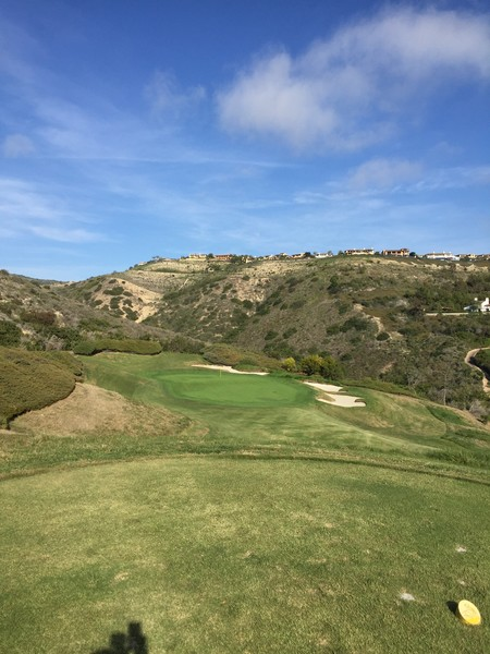 Pelican Hill Resort SOUTH Course Newport Beach California Hole 4 Par 3
