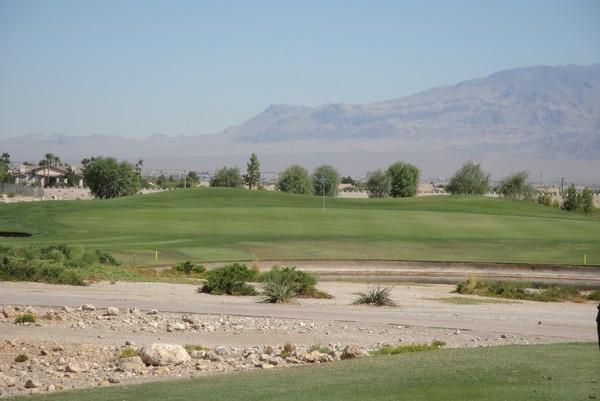Angel Park Golf Club (PALM) Las Vegas, Nevada. Hole 5 Approach