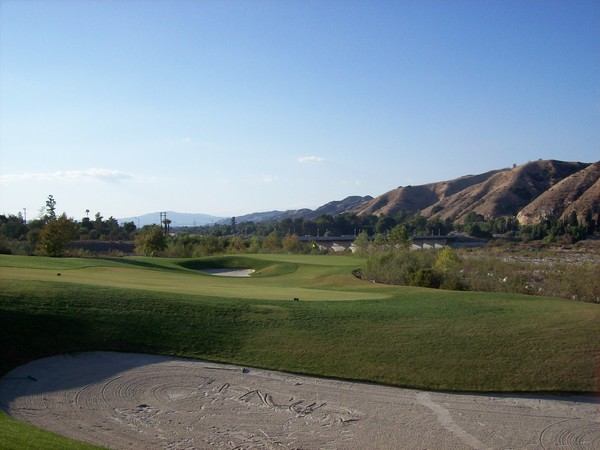 Angeles National Golf Club Sunland California. Hole 17