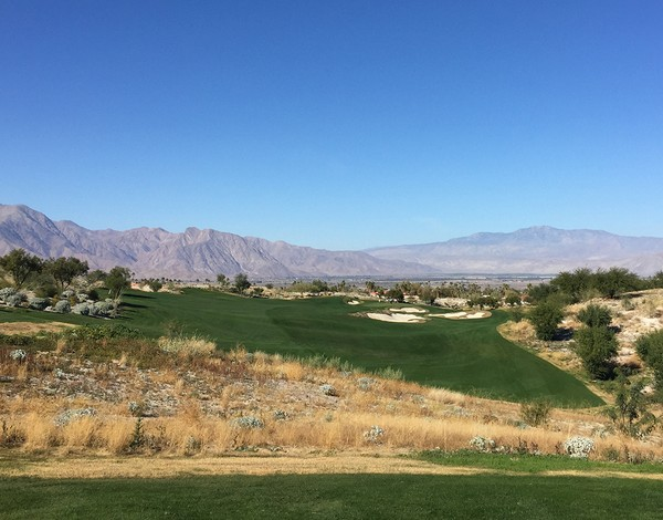 Rams Hill Golf Club Borrego Springs California. Hole 7 Par 4