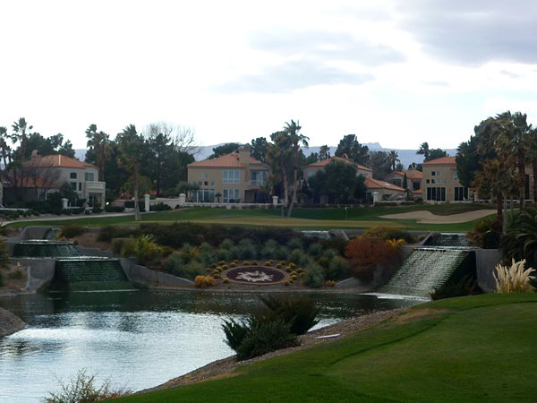 Spanish Trail Country Club Las Vegas Nevada Hole 3 LAKES par 3