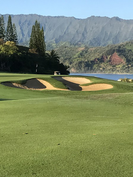 Princeville Makai Golf Club Princeville Hawaii. Hole 2 Par 5
