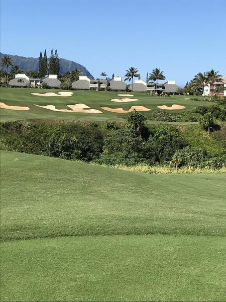 Princeville Makai Golf Club Princeville Hawaii. Hole 14 Par 4