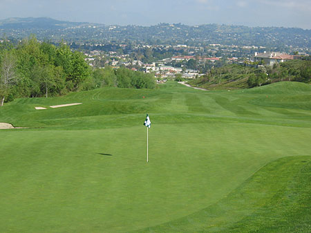 Westridge Golf Club La Habra California Hole 17 Green-side