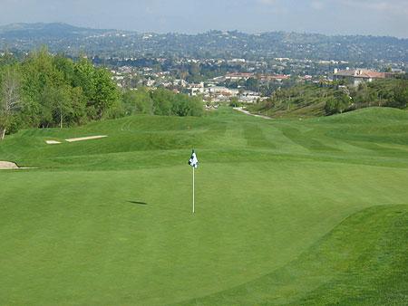 Westridge Golf Club La Habra California Hole 17 Green-side