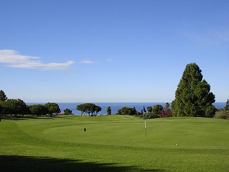 Los Verdes Golf Club Rancho Palos Verdes, CA. Hole 3 Green-side