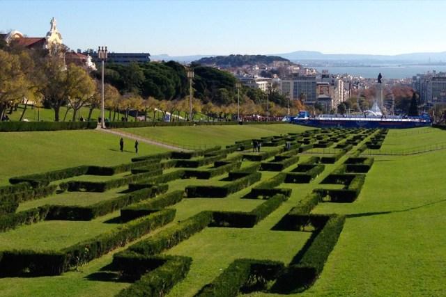 Der Parque Eduardo VII im Stadtviertel Príncipe Real in Lissabon.
