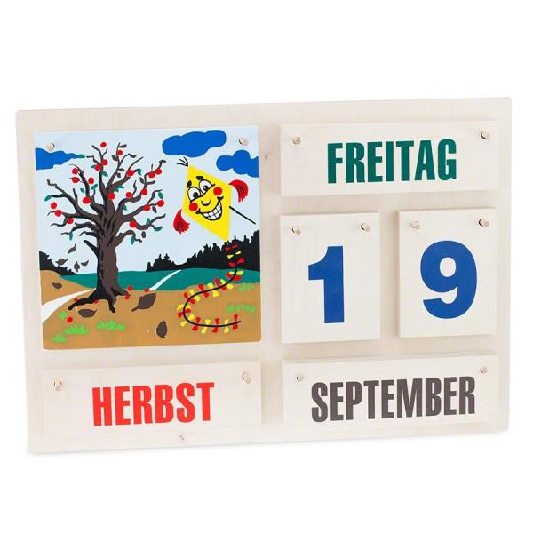 Kinder Kalender aus Holz