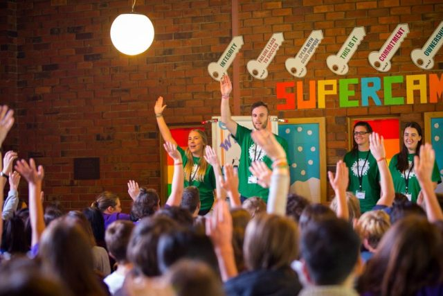Students at the Green SuperCamp Australia school holiday program