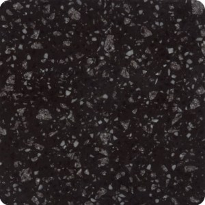 Meganite Raven color recycled solid surface