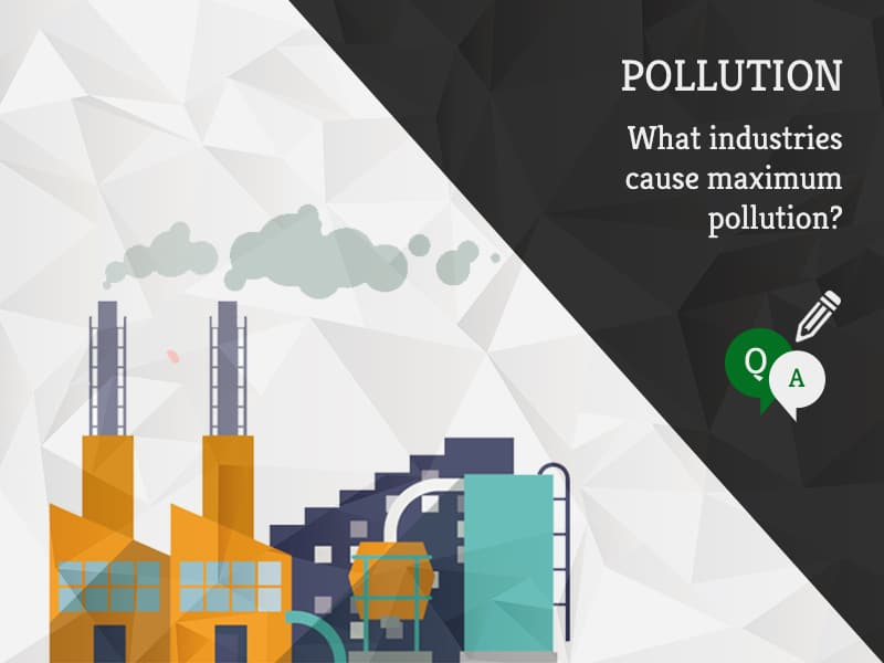 What industries cause maximum pollution by GreenSutra