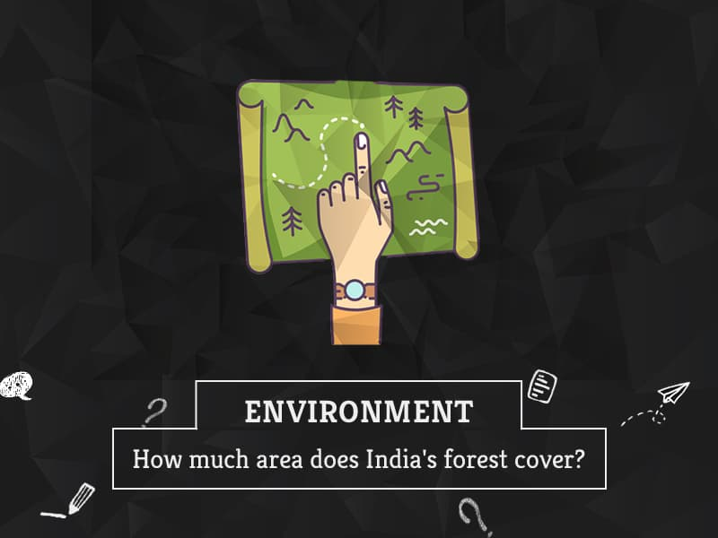 How much area does Indias forest cover by GreenSutra