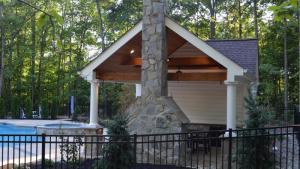 Pool House, Outdoor Kitchen Fireplace Greensward LLC