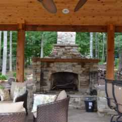 Outdoor Kitchen Pavilion Designs One Handed Equipment Western Red Cedar Pavilion, Fireplace, And ...