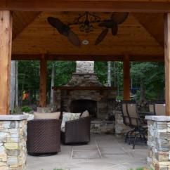 Outdoor Kitchen Pavilion Designs Diy Tables Western Red Cedar Pavilion, Fireplace, And ...