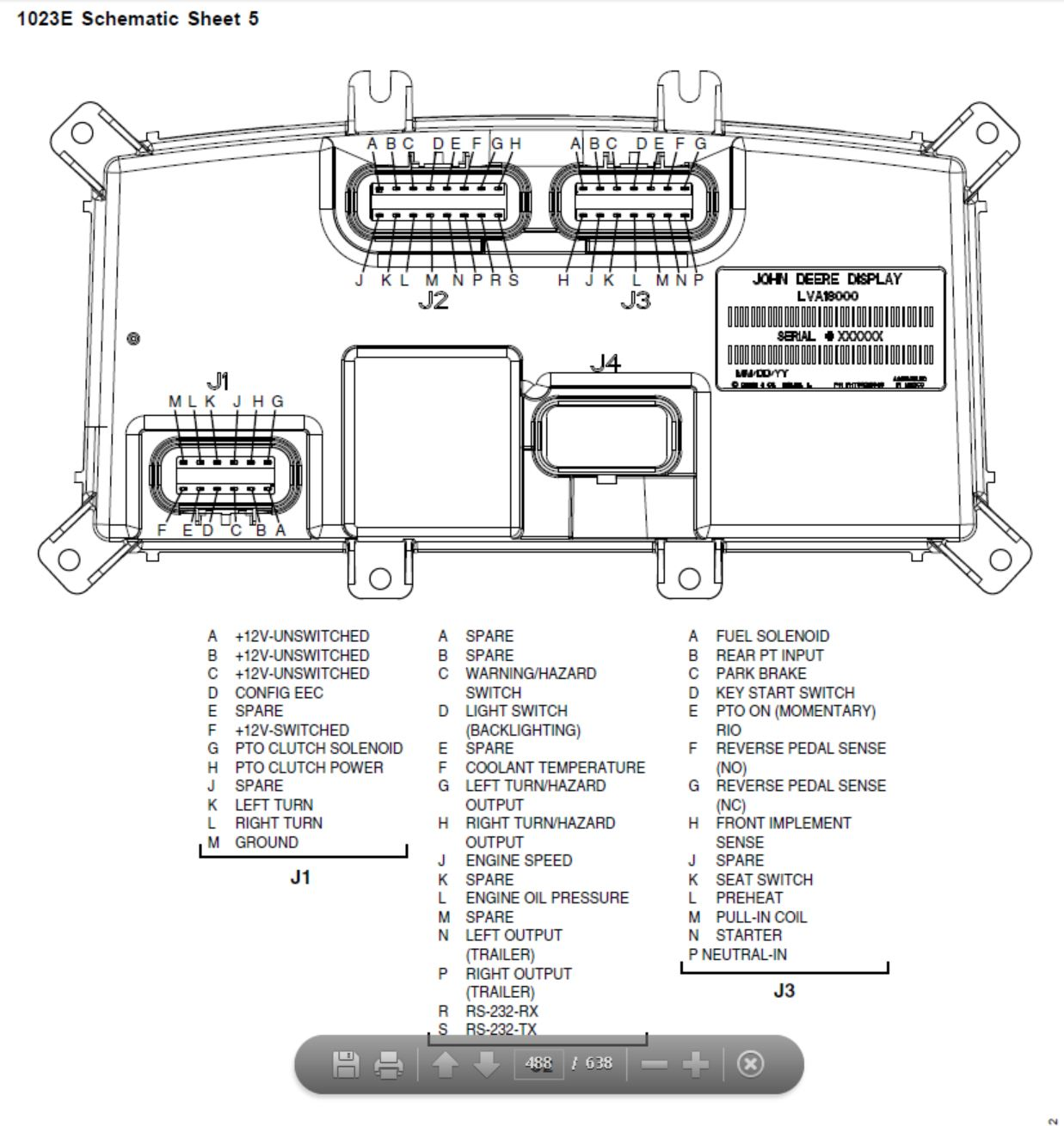 Wiring Manual PDF: 1023e John Deere Fuse Box Location