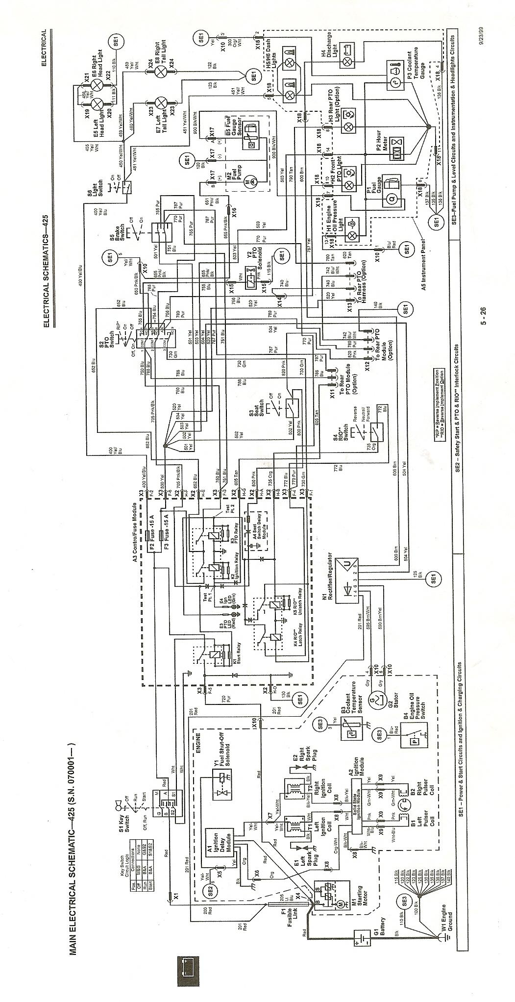 John Deere 425 Wiring Diagram Database