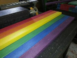 Dimensional Lumber with a spectrum of color