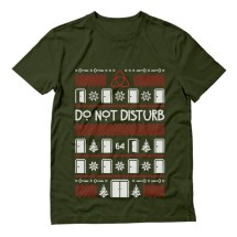 Hotel Horror Ugly Christmas Sweater Disturb