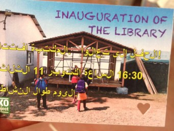 Invitation for the inauguration of the library