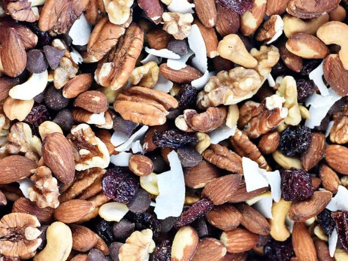 Trail mix with pecans