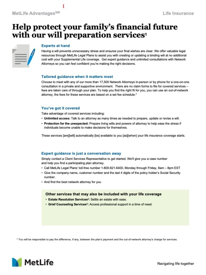 Help protect your family's financial future with our will preparation services
