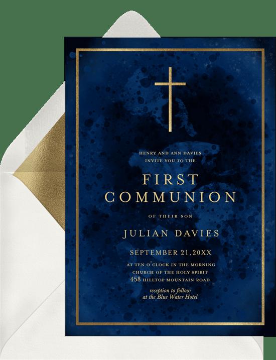 first communion invitations