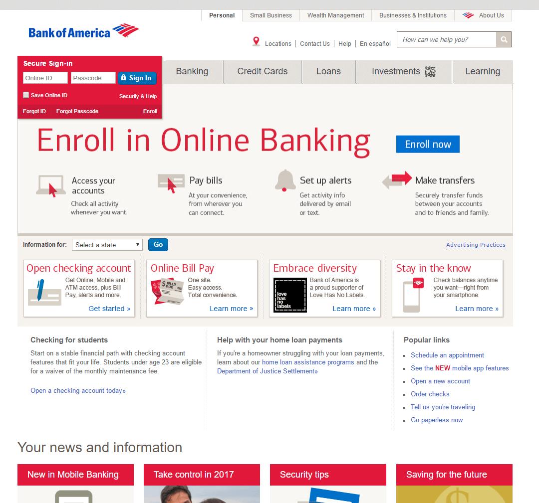 Bank Of America Security Alert Phishing Greenview Data