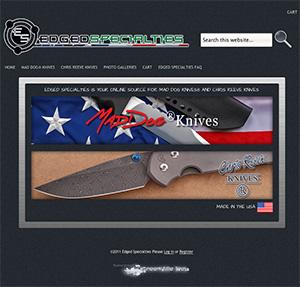 Screen capture of a wordpress web design