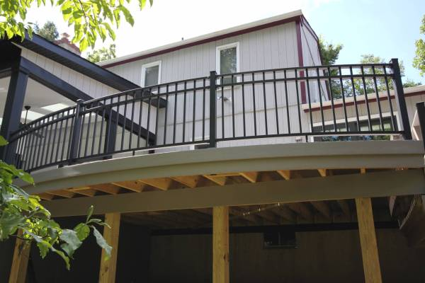 Westbury Aluminum Railing Stair Installation - Year of Clean