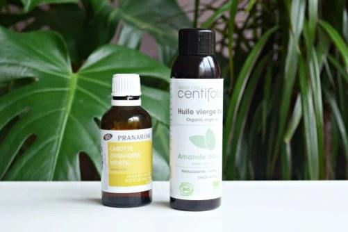 Huile essentielle et huile végétale